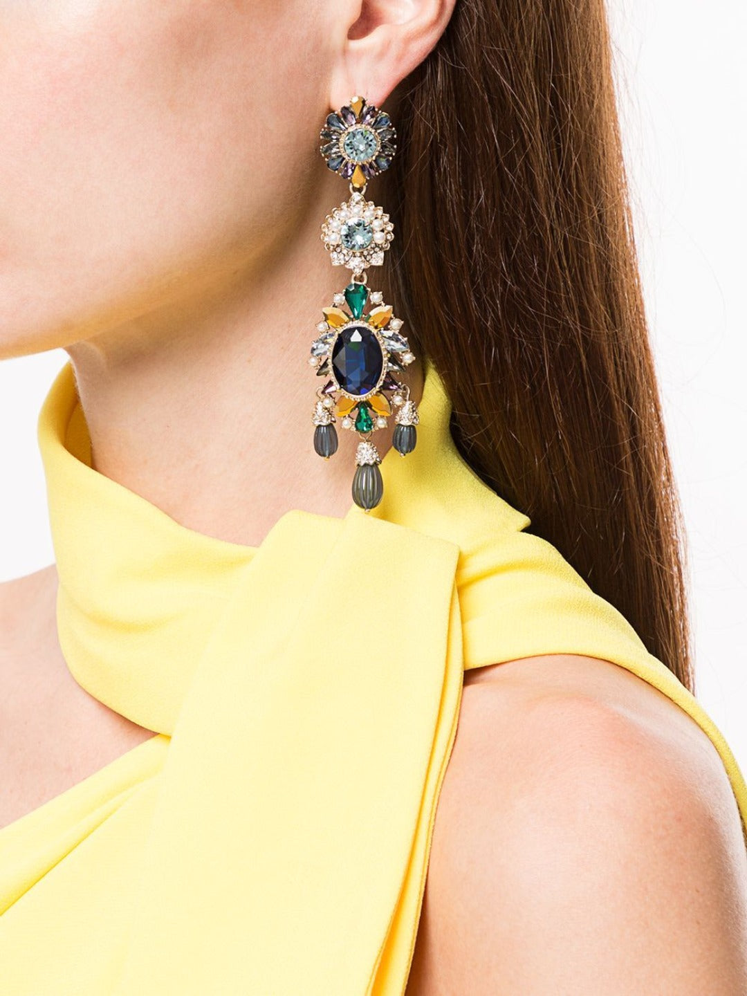 Drop Drama Embellished Earrings