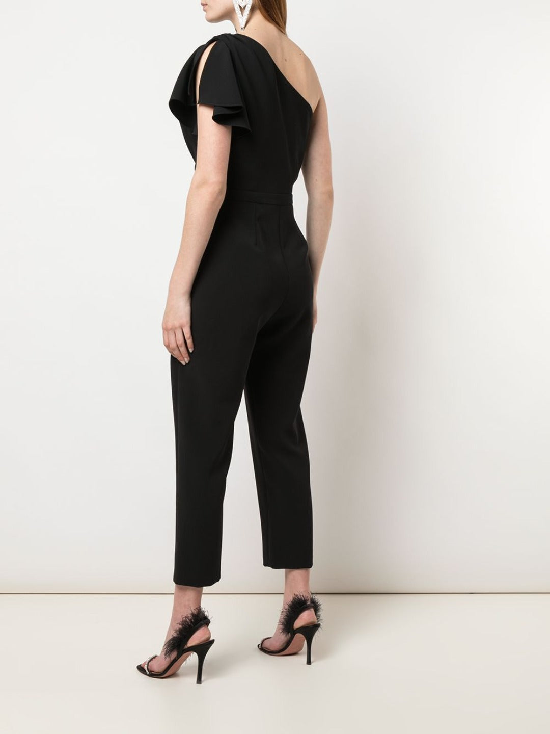 One-Shoulder Tailored Jumpsuit