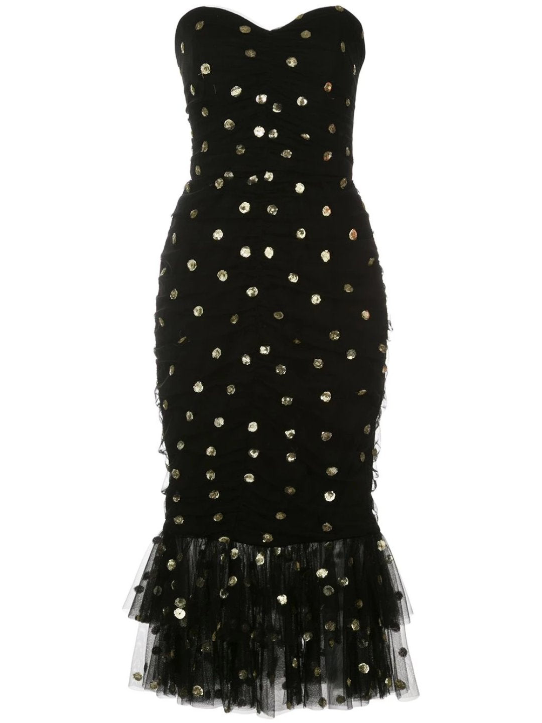 Sequin Dot Tulle Cocktail Dress