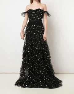 Load image into Gallery viewer, Sequin Dot Texture Gown