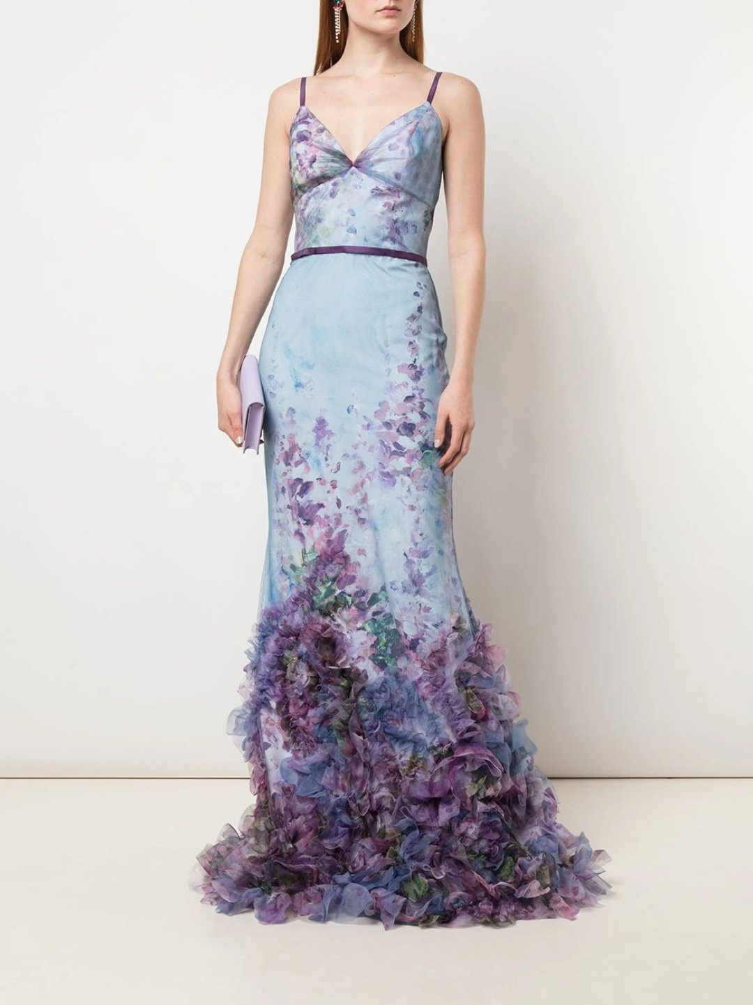 Fit-to-Flare Floral Texture Gown