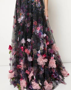 Load image into Gallery viewer, Floral Print Floor Length Gown