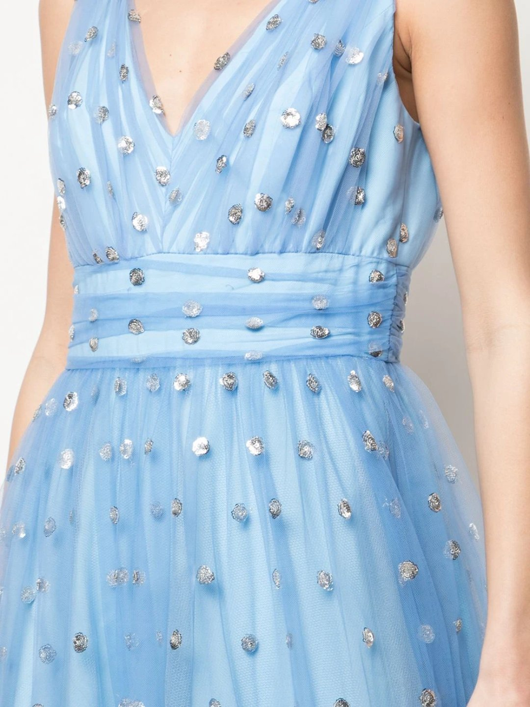 Sleeveless Sequin Dot Texture