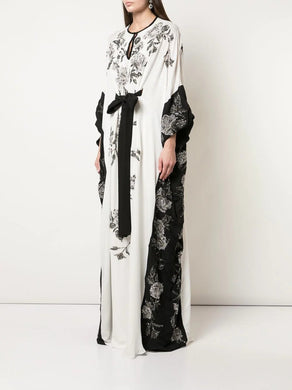 Fully embroidered yoke caftan