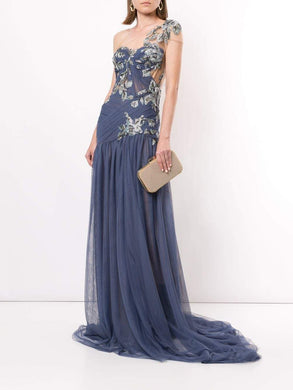 Grecian One Shoulder Gown