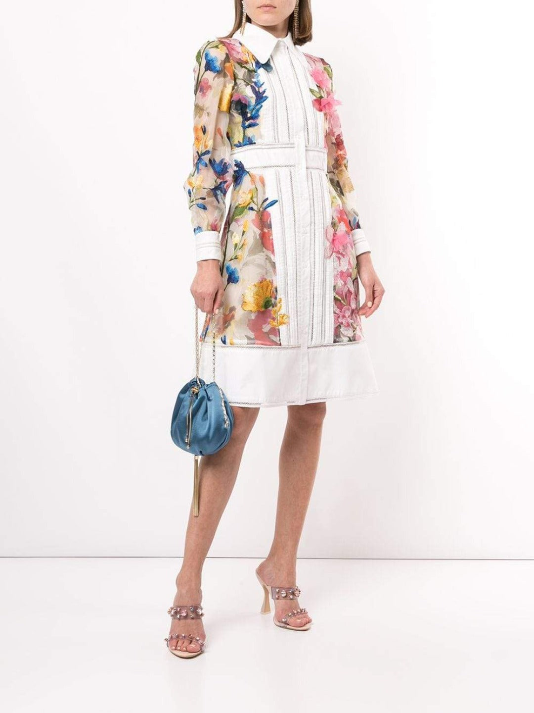 Floral Printed Shirt Dress