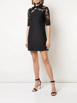 3/4 Sleeve A-Line Mini Day Dress