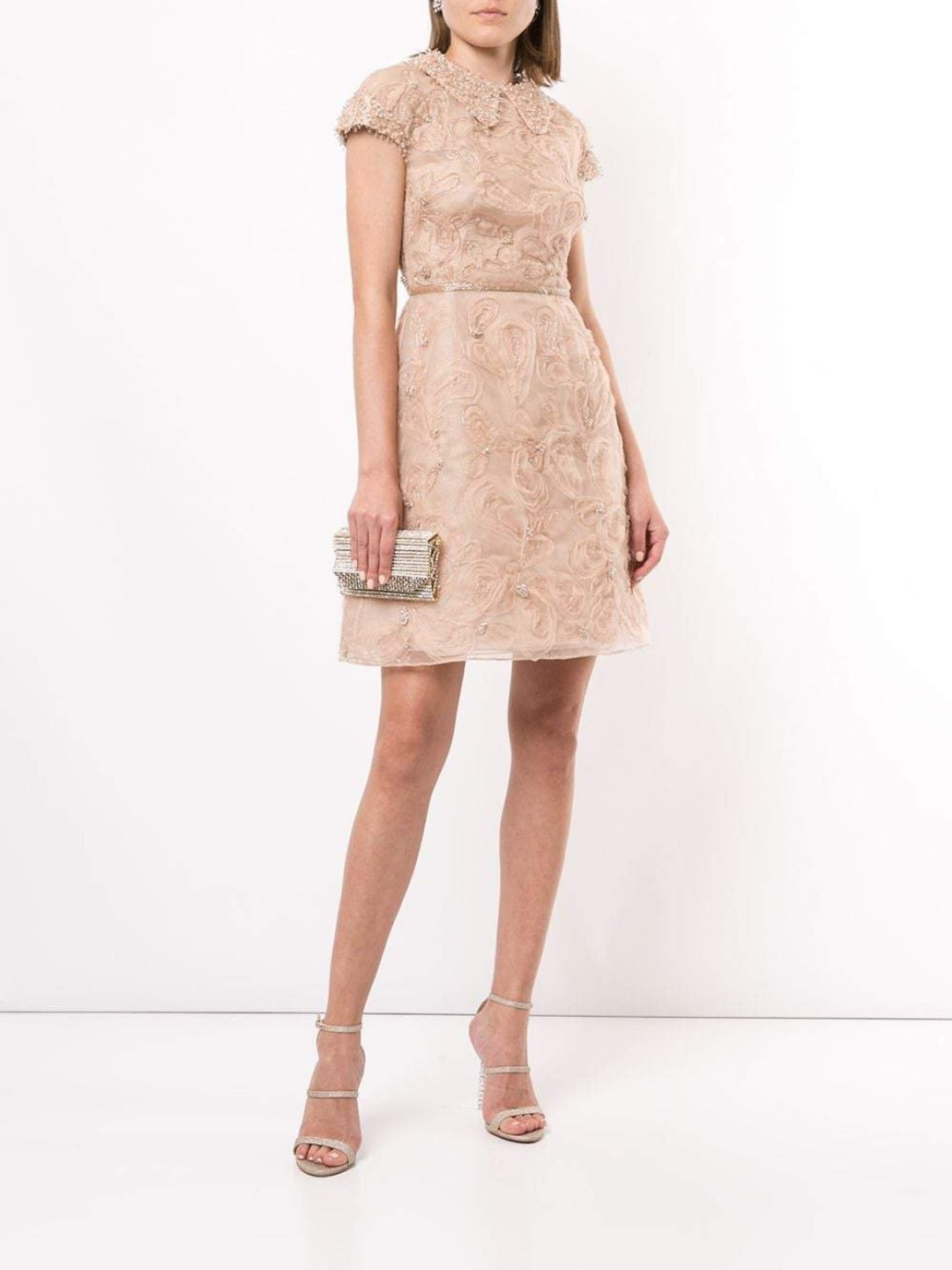 marchesa cap sleeve cocktail