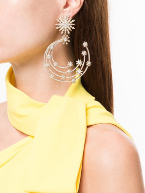 Supernova Post Embellished Hoops