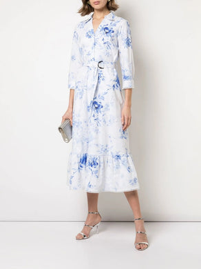 3/4 Poplin Shirt Day Dress