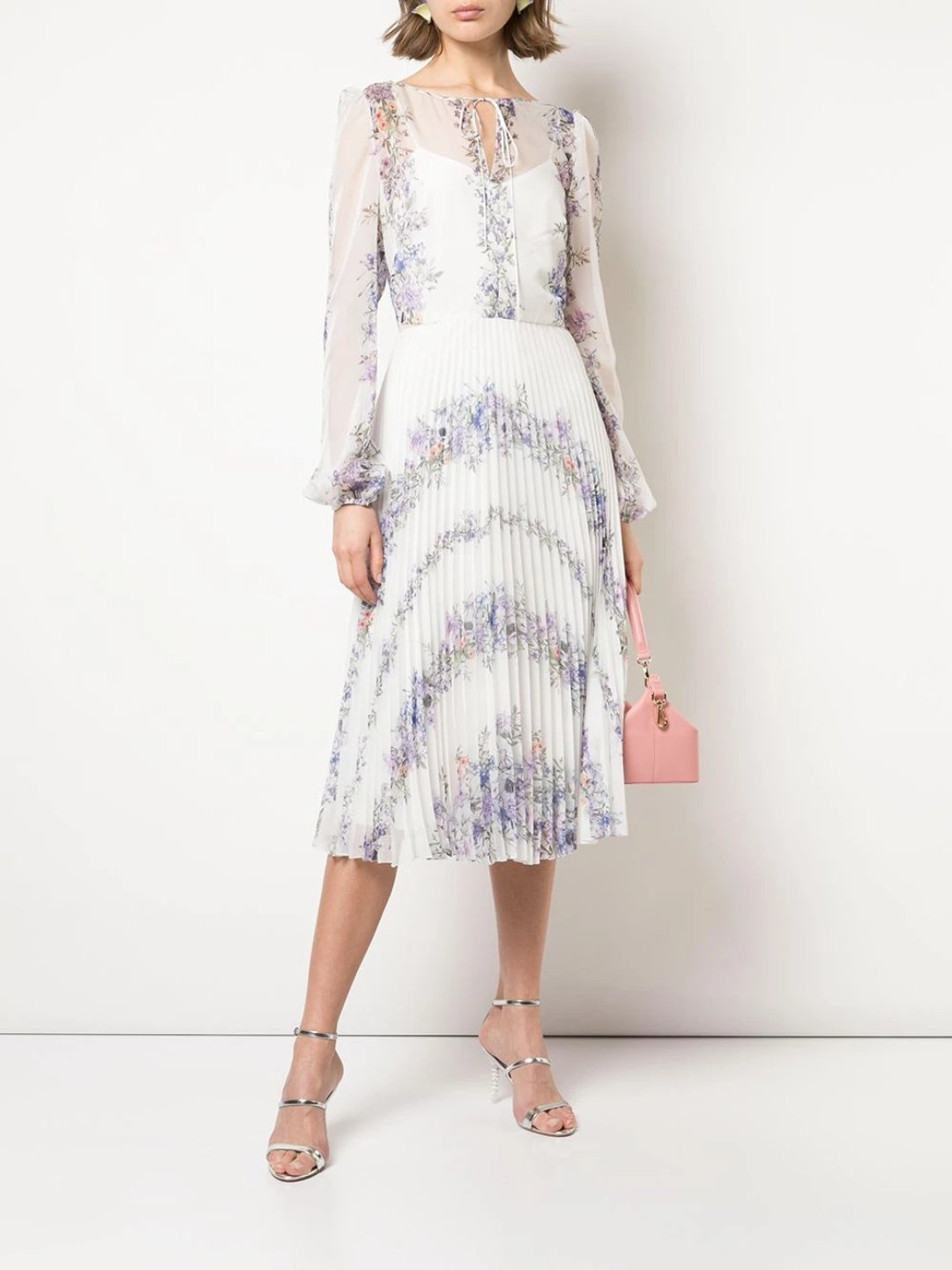 Pleated Chiffon Cocktail Dress