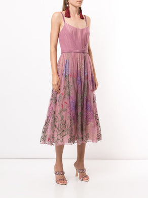 Shirred Point D'Esprit Dress