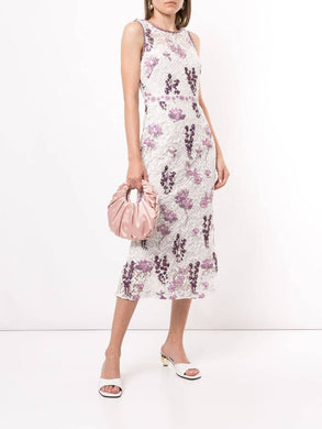Floral Tea-Length Dress