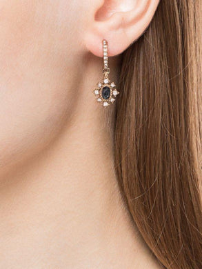 Hoop Crystal Drop Earrings