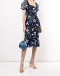 Load image into Gallery viewer, Sleeveless Floral Embroidered Cocktail Dress