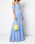 Load image into Gallery viewer, Off-the-Shoulder Crepe Gown