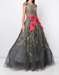 Load image into Gallery viewer, Cap Sleeve Embroidered Ballgown