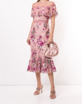 Load image into Gallery viewer, Off-Shoulder Metallic Floral Cocktail Dress