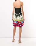 Load image into Gallery viewer, Strapless Draped Floral Cocktail