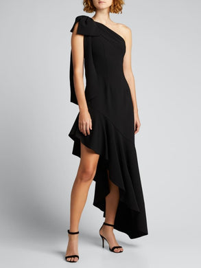 Draped One-Shoulder Asymmetric Cocktail