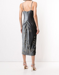 Load image into Gallery viewer, Sleeveless Draped Cowl Neck Dress