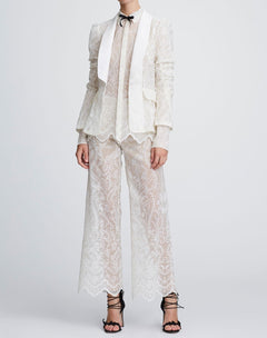 Load image into Gallery viewer, Eyelet wide leg trousers