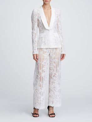 Corded lace trousers