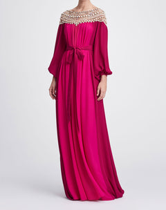 Load image into Gallery viewer, Tonal pink caftan
