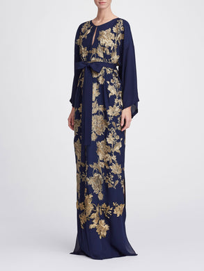Caftan With Gold Embroidery