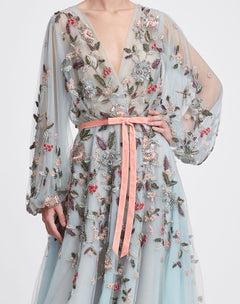 Load image into Gallery viewer, Floral Tea Length Gown