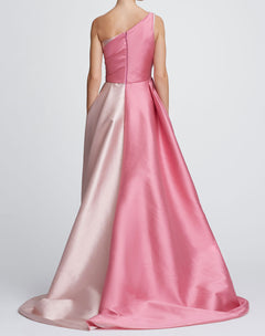 Load image into Gallery viewer, One-Shoulder color blocked ballgown