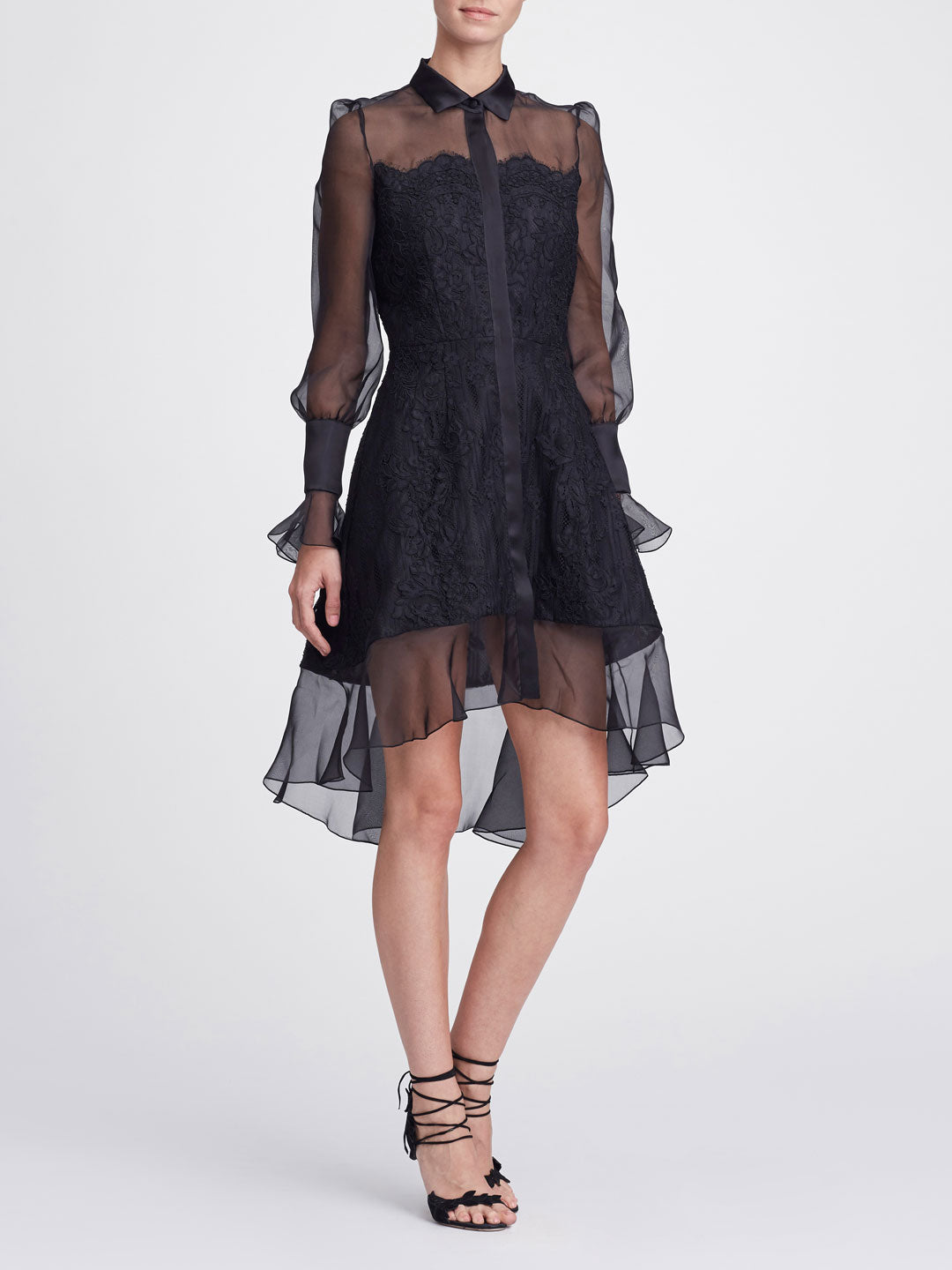 2c9cb8e6fac Lace shirt dress | Shop the Marchesa Collection