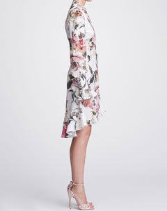 Load image into Gallery viewer, Floral print shirt dress