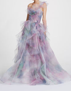 Load image into Gallery viewer, Watercolor ballgown