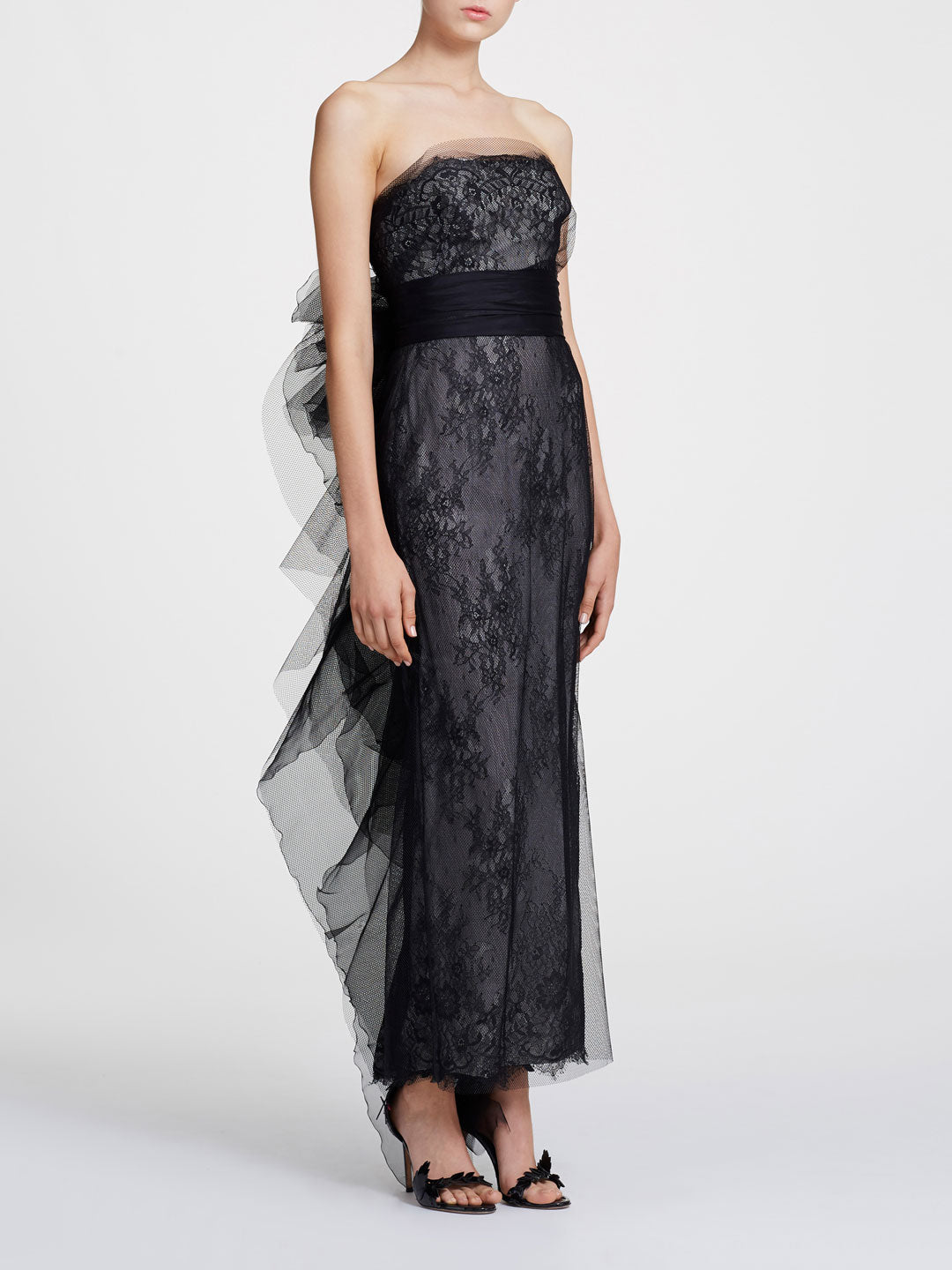 fd91866583184 Strapless column gown   Shop the Marchesa Collection