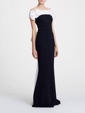 Off Shoulder Drape Gown