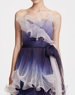 Load image into Gallery viewer, Indigo strapless gown