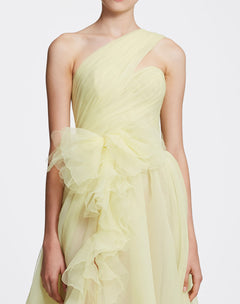 Load image into Gallery viewer, One shoulder gown with front slit detail