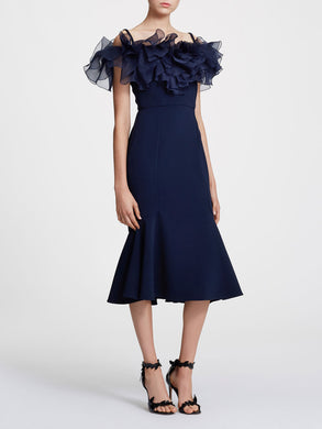 Off Shoulder Crepe Cocktail