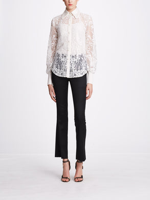 Long-Sleeve Lace Shirt