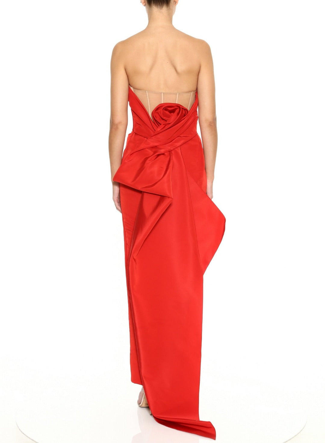 Strapless Draped Column Gown