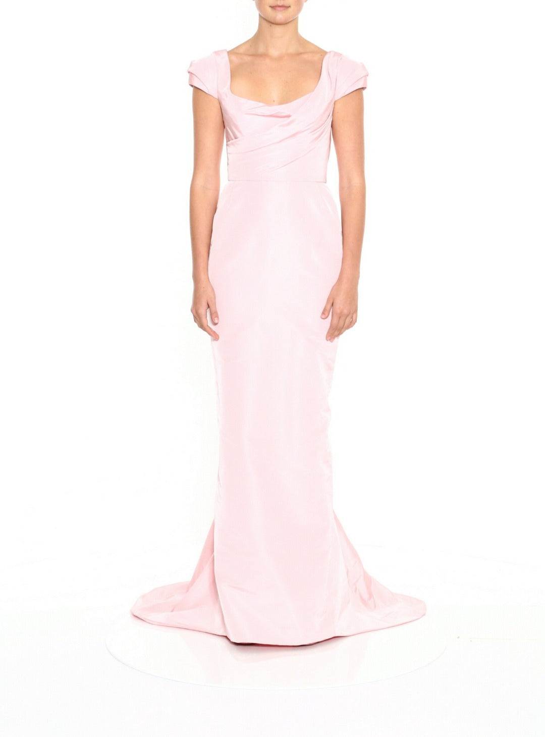 Faille Draped Gown