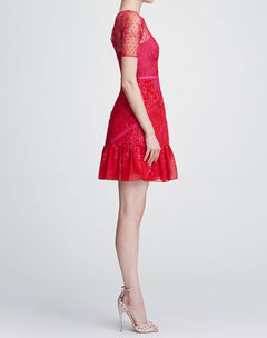Load image into Gallery viewer, Short Sleeve Chiffon Tulle Cocktail