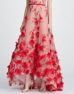 Load image into Gallery viewer, Strapless 3D floral gown