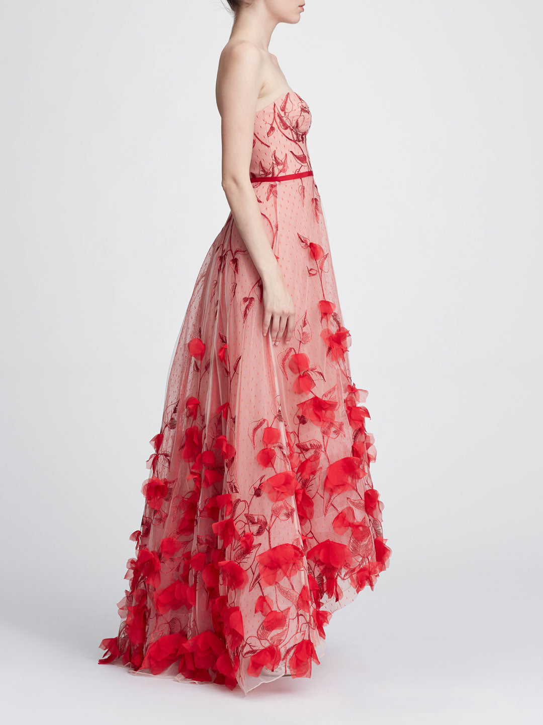 ceb6aedb Strapless 3D floral gown | Shop Marchesa Notte