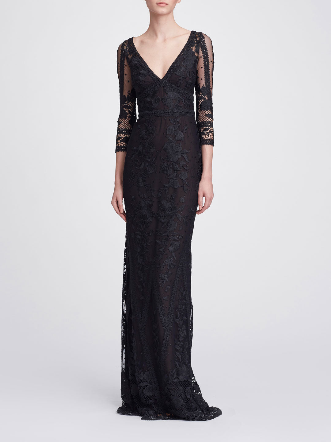 V-neck Lace Gown