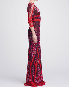 Load image into Gallery viewer, V-neck Lace Gown