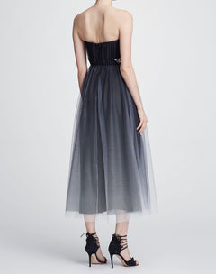 Load image into Gallery viewer, Strapless tulle tea-length