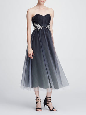 Strapless Tulle Tea-length