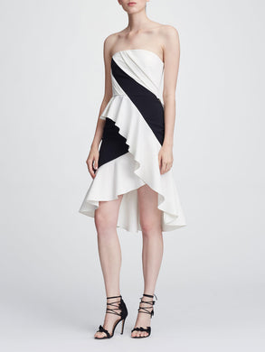 Strapless Colorblock Cocktail Dress